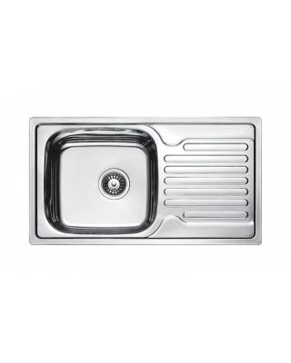 Кухонна мийка Fabiano 78х43 мікродекор  Нержавіюча сталь