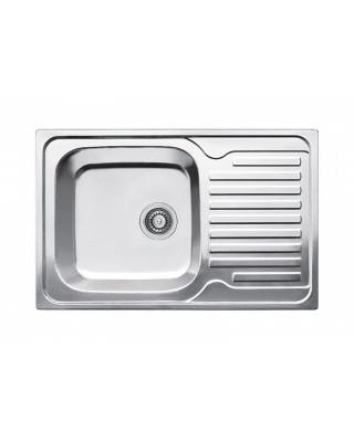 Кухонна мийка Fabiano 78х50 мікродекор  Нержавіюча сталь