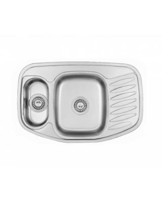 Кухонна мийка Fabiano 78x51x1,5 мікродекор  Нержавіюча сталь