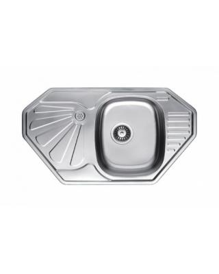 Кухонна мийка Fabiano 85х47 мікродекор  Нержавіюча сталь