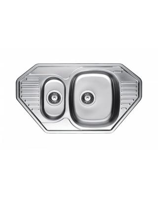 Кухонна мийка Fabiano 85x47x1,5 мікродекор  Нержавіюча сталь